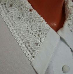 Λευκή μπλούζα L