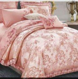 Yatak Örtüsü Saten Jakarlı