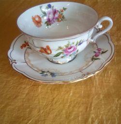 Τσάι ζεύγος πορσελάνη Γερμανία Ilmenau