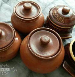 Pots for frying. 4pcs.