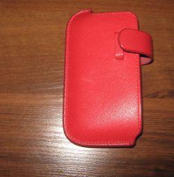 Чехол для телефона 12х6,5 кожа, новый