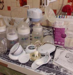 Pompa de lapte avent electric + cadouri