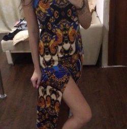 Dress with a slit