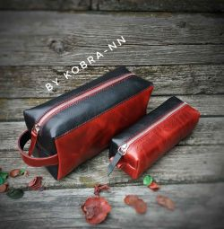 Handmade travel bag set
