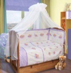 Комплект постельного белья  с балдахином.
