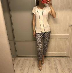 Zara bluz ve pantolon