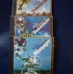 CD diski. Sevgili Vivaldi, Mozart, Çaykovski.