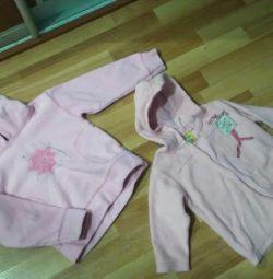Μπουφάν για ένα κορίτσι 2-3 χρόνια