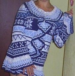 Tricoturi pe ace de tricotat.
