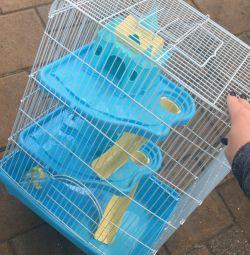 Hamster ile kafes