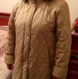 Пальто демисезонное 52-54с капюшоном