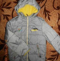 Jachetă de primăvară-toamnă pentru înălțime 116-122 cm.