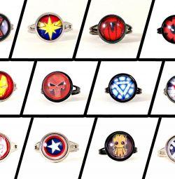 Souvenirs costume jewelry Marvel - Spiderman, Ironman