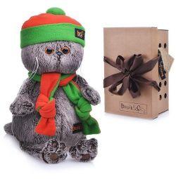 Soft toy Cat Basik, size 20cm