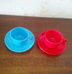 Чашки пластик