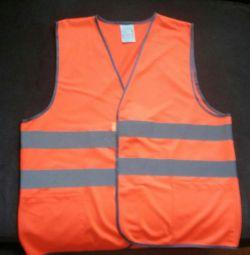 The vest is alarm orange