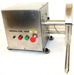 Circular saw for cutting carcasses of chicken, meat