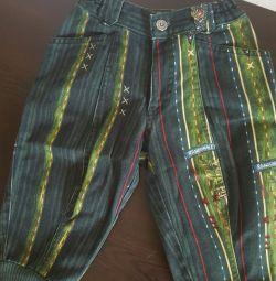 Брюки джинсовые р.86