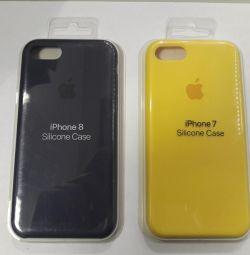 Θήκη σιλικόνης κάλυψης iPhone 7/8.