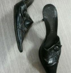 Туфли-мюли натуральная кожа.39р-р