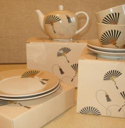 Tea set for 2 persons porcelain Gift