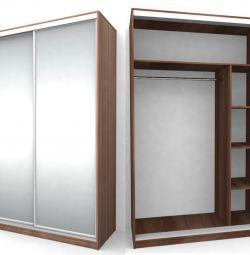 Aynalı kapılarla sürgülü dolap (yeni)