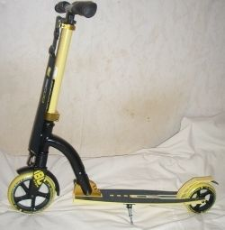 Deluxe Scooter with Front Shock Absorber, 18 cm