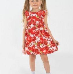 Yeni pamuklu elbise 92-116 koton
