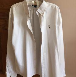 White men's shirt RL
