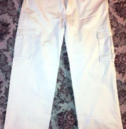 Τζιν (παντελόνι) για άνδρες, λευκό W36 L33
