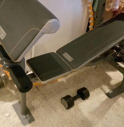 Exercise machine + dumbbells