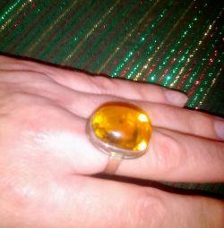 Δακτυλίδι με δαχτυλίδι με πορτοκαλί