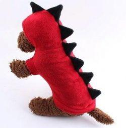 Bluze dinozaur pentru pisici si pisici