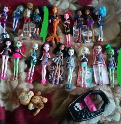 Monster High collection of 14 dolls + gift