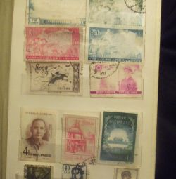марки старого Китаю та інших країн