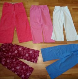 Pants, trousers for a girl of 2 years