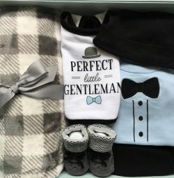 Set of clothes and accessories on a boy