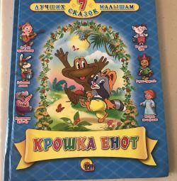Book baby raccoon for children