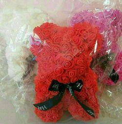 Ведмедик Тедді з 3D троянд