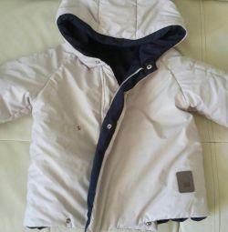 Jacket beige / blue 24 months