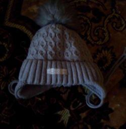 Winter hat on the boy.