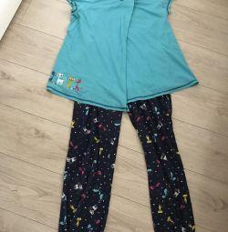 Пижама/домашний костюм для беременных и кормящих