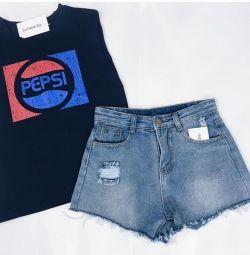 Новые Pepsi Топы майки футболки