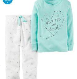 Carter pijamale pentru 5 t, noi pantaloni fleece.
