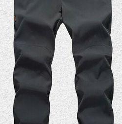 Pantaloni bărbați calzi.