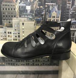 Pantofi de vară din piele Italia 38,5 -39 dimensiune completă