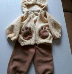 fleece blouse and pants