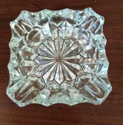 Crystal ashtray USSR