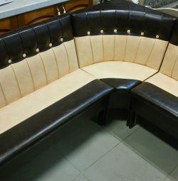Corner sofa in the kitchen