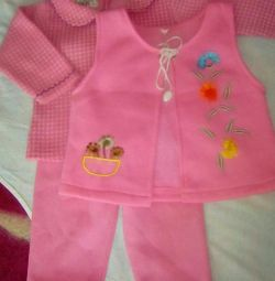 Three piece suit for baby girl